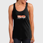 ™ Ladies Solid Gathered Racerback Tank DM420