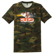 District Made® Mens Perfect Weight® Camo Crew Tee. DT104C